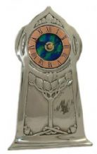 Archibald Knox No' 13 Pewter and enamel Clock